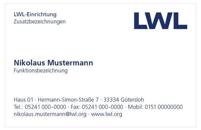LWL | Visitenkarten - Corporate Design