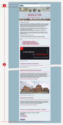 Abb. 2: HTML-Newsletter Beispiel-Layout